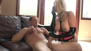 Busty Blonde with Her Master Enjoying Sex in Many Ways