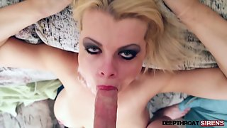 Busty Blonde Hungrily Sucking Massive Dick before Penetration