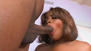 Busty Ebony Deepthroat Massive Dick for Erection before Sex