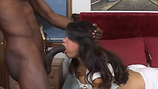 Asian Slut Sucking Black Dick and Enjoying Interracial Sex