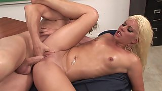 Lovely Girl Taking Fabulous Massage from Crazy Masseur