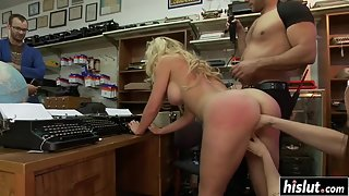 Blonde Babe in Group Got Teased and Fucked by Masters As Well As by Mistresses