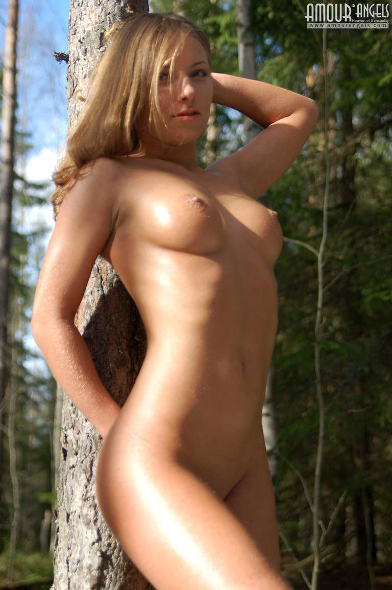 Naked women showing tits