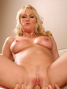 Blonde mature likes the feel of younger cock