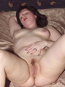 Brunette housewife undressed for the first time in front of the camera