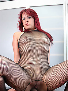 Latina babe gets fucked hard in her pussy