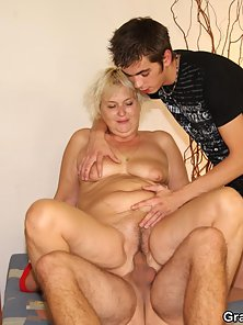 Naughty Blonde Granny Enjoys Nice Hammering in Wide Hairy Fanny