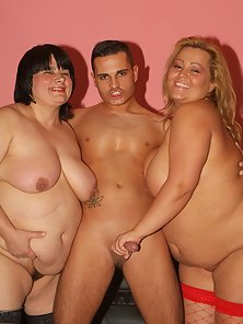 Fat women Leslie And Agnes go for an exciting threesome