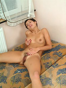 Short Hair Girl Rubbing Pussy under Panty for Solo Orgasm ...