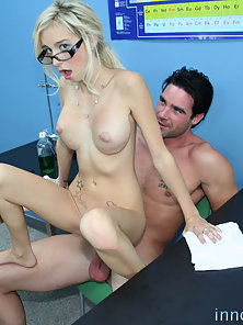 Blonde Patient Morgan Layne Got Humped on Hunky Doctor