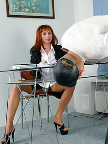 Horny Office Lady Pounded Hard By a Huge Dick in the Office