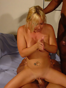 Puffy Boobs Babe Enjoys Four Ways Hammered by Meaty Dongs
