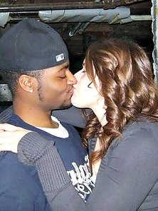Interracial kiss