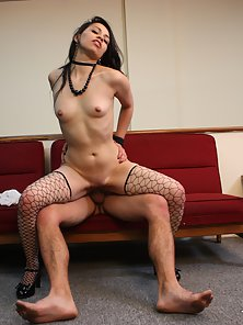 Sexy Colombian babe strips and rides a massive dong
