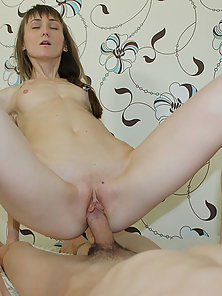 Perverted dude is having amazing sex with skinny brunette