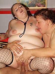 Big girls Anna Marie And Agnes Eva share a dong in this raunchy bbw threesome session