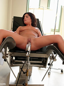 Girl has squirting orgasms by fucking machines.