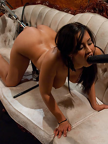 Isis Love gets her pussy and mouth fucked by fuck machines
