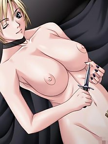 Curvy Anime Babe Exposing Fabulous Sexual Parts