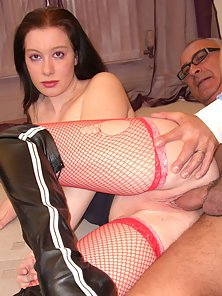 Old Man Fucking Mature Lady after She Sucks Cock