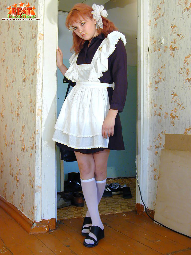 Red haired schoolgirl pussy something