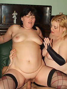 Big girls Rosalie And Lisa go for a steamy threesome and got themselves extremely fucked