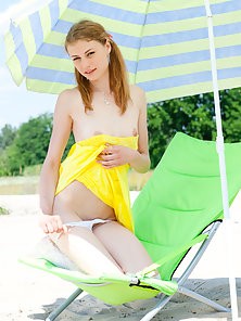 Innocent Teen Stunner Slowly Strips to Show Bare Shape Outdoors