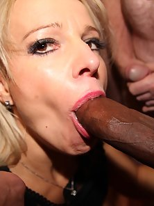 Attractive dirty babes sucking cocks in group
