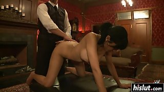 Naughty Mistress Fucking Her Slave Using Sex Toys in Doggy Style