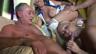 Busty babes from USA gets fucked hard in england
