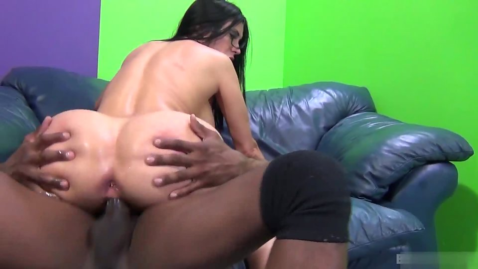 Brunette Spreading Legs and Taking Big Dick in for Penetration