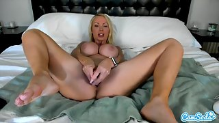 Nikki Benz gets her pussy teased with sex toys