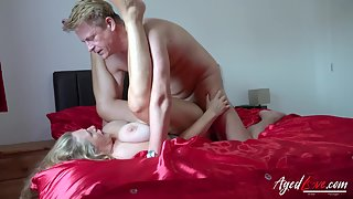 Busty Blonde Fucked by Dude From Behind for Longtime