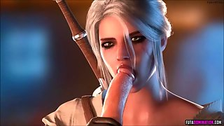 3D beauties from The Witcher enjoy deep pussy pounding