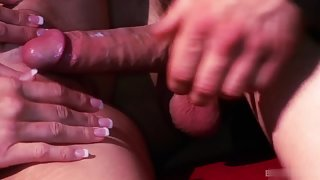 Fishnet Stocking Lady Fingered and Fucked Hard Until Satisfaction