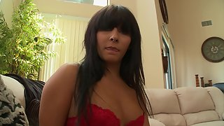 Sexy milf gets her shaved snatch nailed