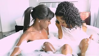Curly Hair Ebony Ladies Making Each Other Happy Through Pussy Licking