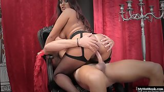 Big Booty Babe Rebecca Pinar Gets Nailed Doggy Style and Ride in Dorm Room