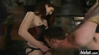 Kendra made a horny guy moan with pegging bdsm