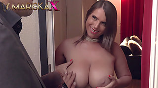 Brunette cougar with huge tits nails young dude with big cock