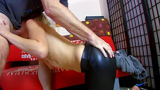 Blonde babe gets fucked by her personal boy toy