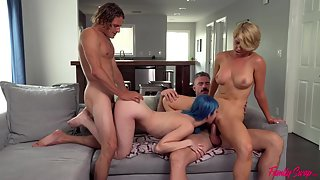 Horny daddies are swapping their daughters