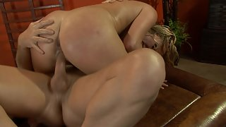 Big ass with big oiled ass gets fucked hard