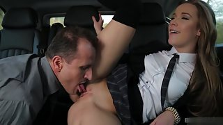 Stunning Slut Got Licked and Fucked by Dude Inside Car