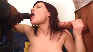 Two dicks are exactly what she needs