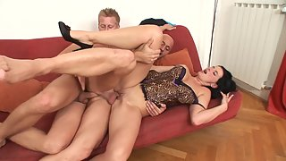 Couple first time enjoy bisexual threesome