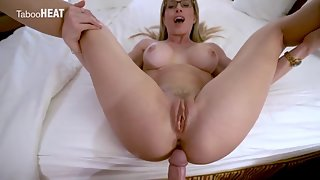 Naughty stepmother gets her ass fucked and mouth jizzed on vacation
