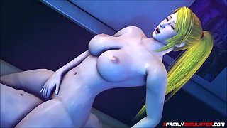 Blonde cartoon slut gets fucked very hard