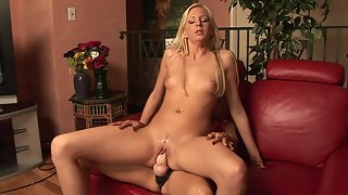 Two slim lesbian cuties get teased and pleased before using strapon