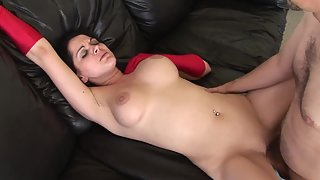 Busty MILF gives head and gets pussy banged